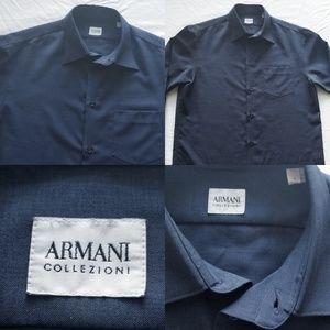 Men Armani Collezioni Dress Button Down Longsleeve